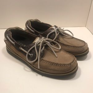Sperry TopSider Stingray Boat Shoe 8M Tri-Tone